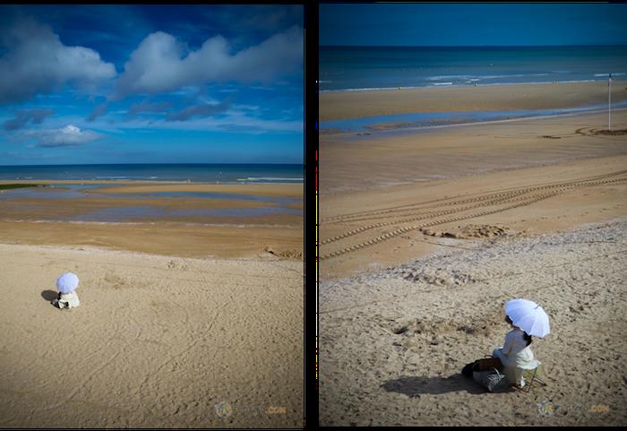 La mystérieuse femme de Cabourg, station balnéaire de Normandie