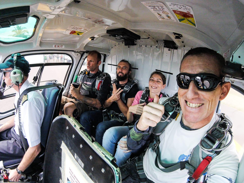 Sauter en parachute depuis un hélicoptère à l'ile de la Réunion !