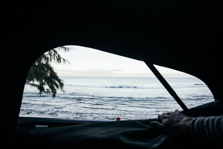 vue sur mer toit relevable fourgon aménagé